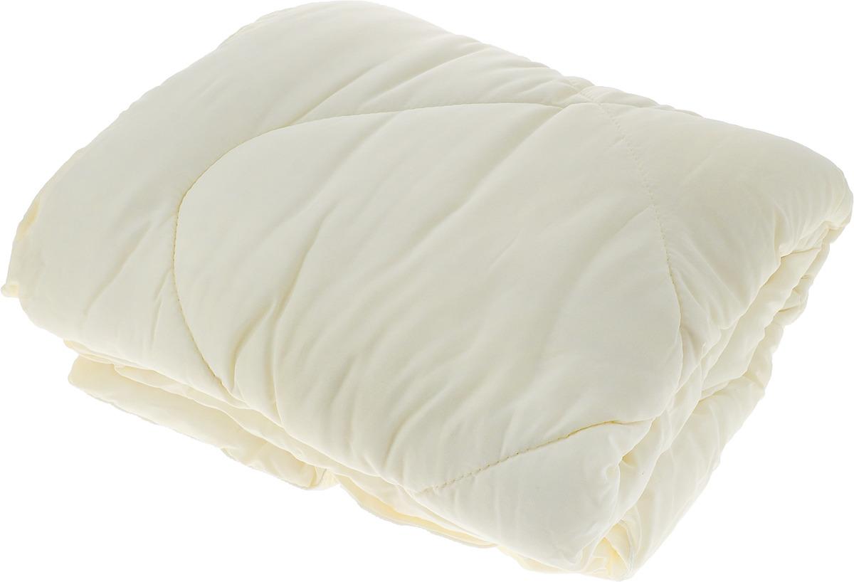 одеяло grass familie angora familie wool всесезонное наполнитель козий пух мериносовая шерсть цвет белый 155 х 200 см Одеяло Lara Home Wool, всесезонное, цвет: бежевый, 172 х 205 см