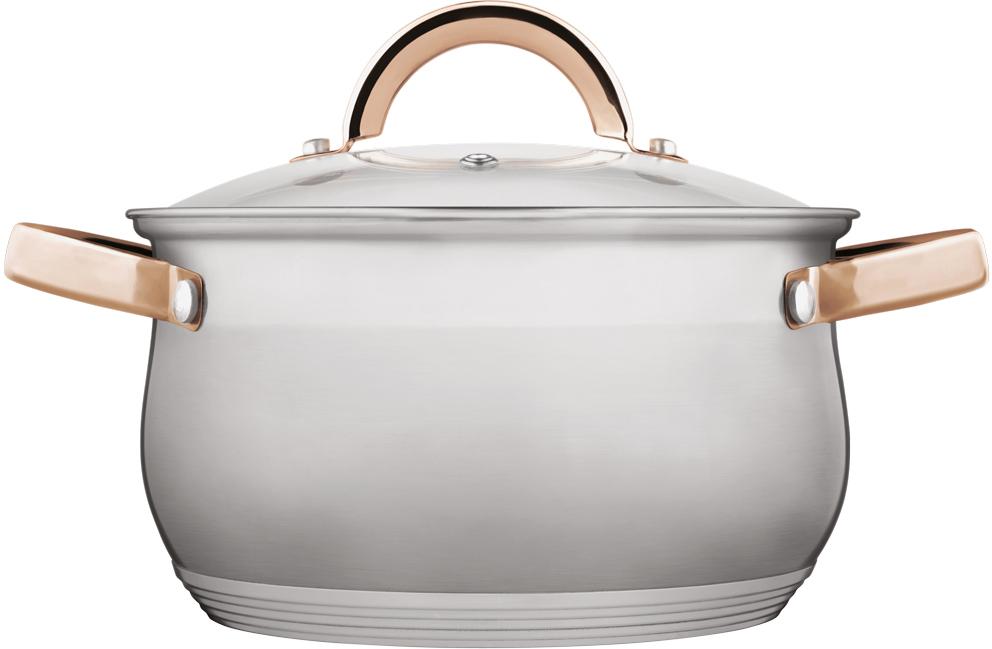 Кастрюля Verloni Тоскана, с крышкой, 3 л кастрюля lara lr02 021 18 см 2 3 л нержавеющая сталь