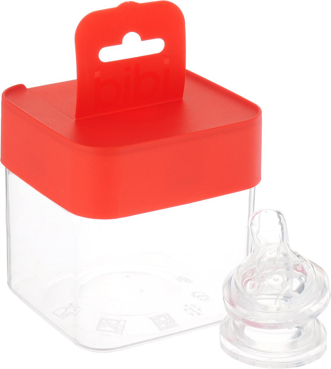 Bibi Соска силиконовая для бутылочки Bibi Happiness от 0 месяцев 2 шт цена