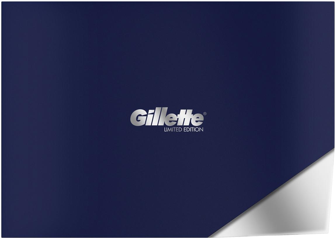 Подарочный набор Gillette Fusion5 ProShield Chill: Бритва, 5 сменных кассет, Гель для бритья, 200 мл, Подставка