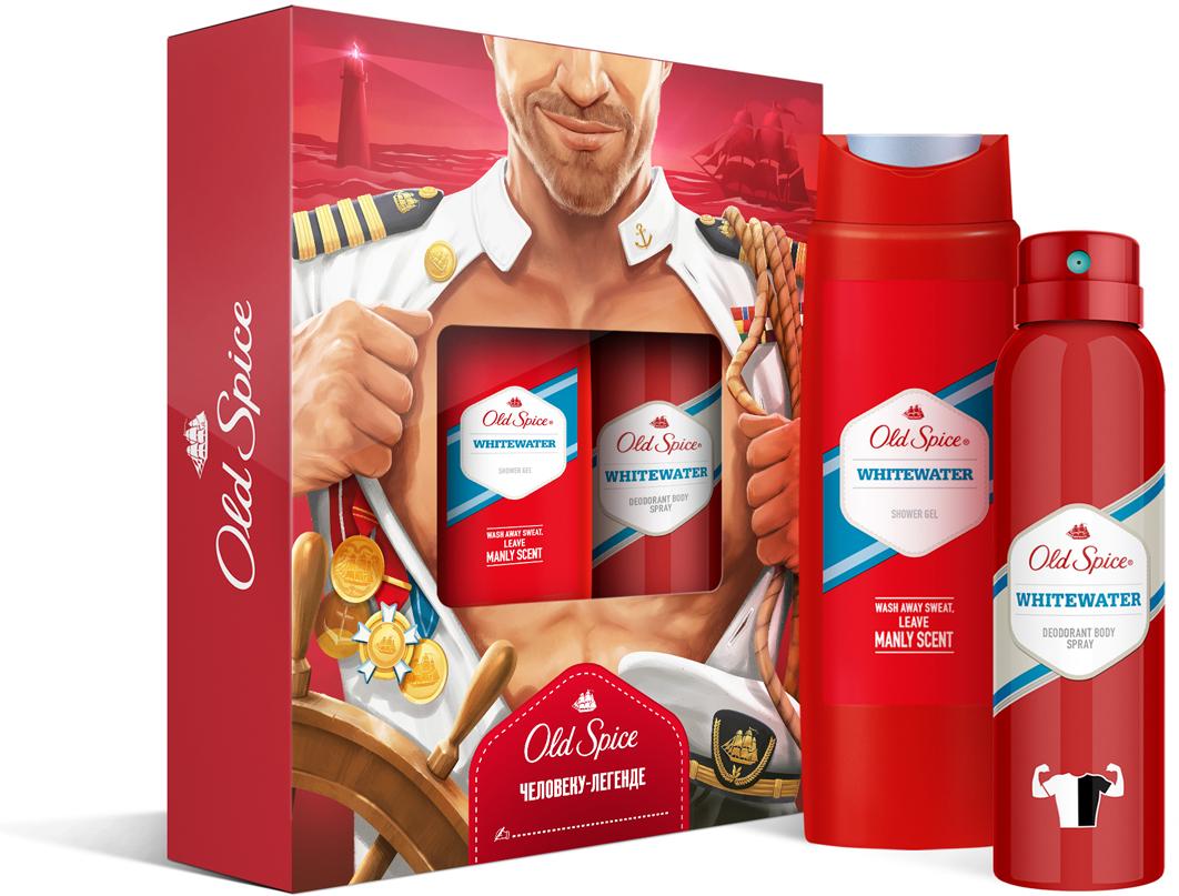 Подарочный набор Old Spice Whitewater: Аэрозольный дезодорант, 150 мл, Гель для душа, 250 мл