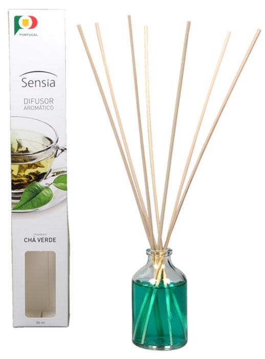 Ароматизатор интерьерный Sensia, зеленый чай, 50 млM07789Аромат зеленого чая наполнит ваш дом приятным ароматом и подарит хорошее настроение