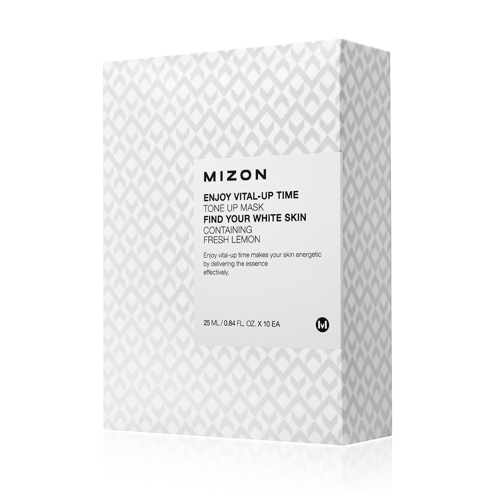 Осветляющая маска Mizon Enjoy Vital-Up Time Tone Up Mask-Set, 25 м*10 шт