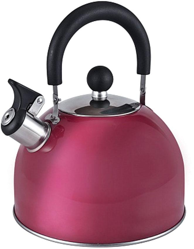 Чайник Endever, со свистком, цвет: бордовый, 3 л