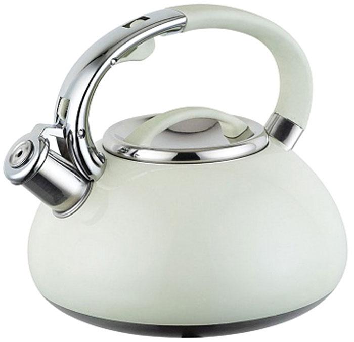 Чайник Endever, со свистком, цвет: кремовый, 3 л
