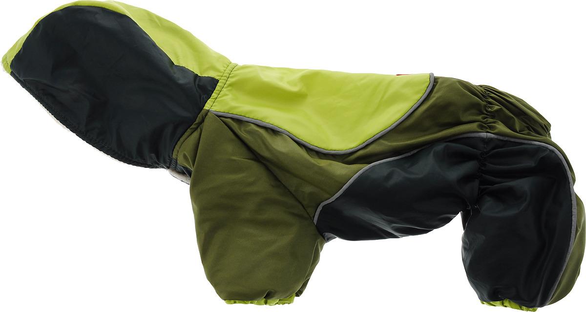 Комбинезон для собак Happy Puppy Фристайл, унисекс, цвет: салатовый, темно-зеленый, хаки. Размер 4 (XL) толстовка для собак fidget go dogbaby цвет черный белый унисекс размер xl