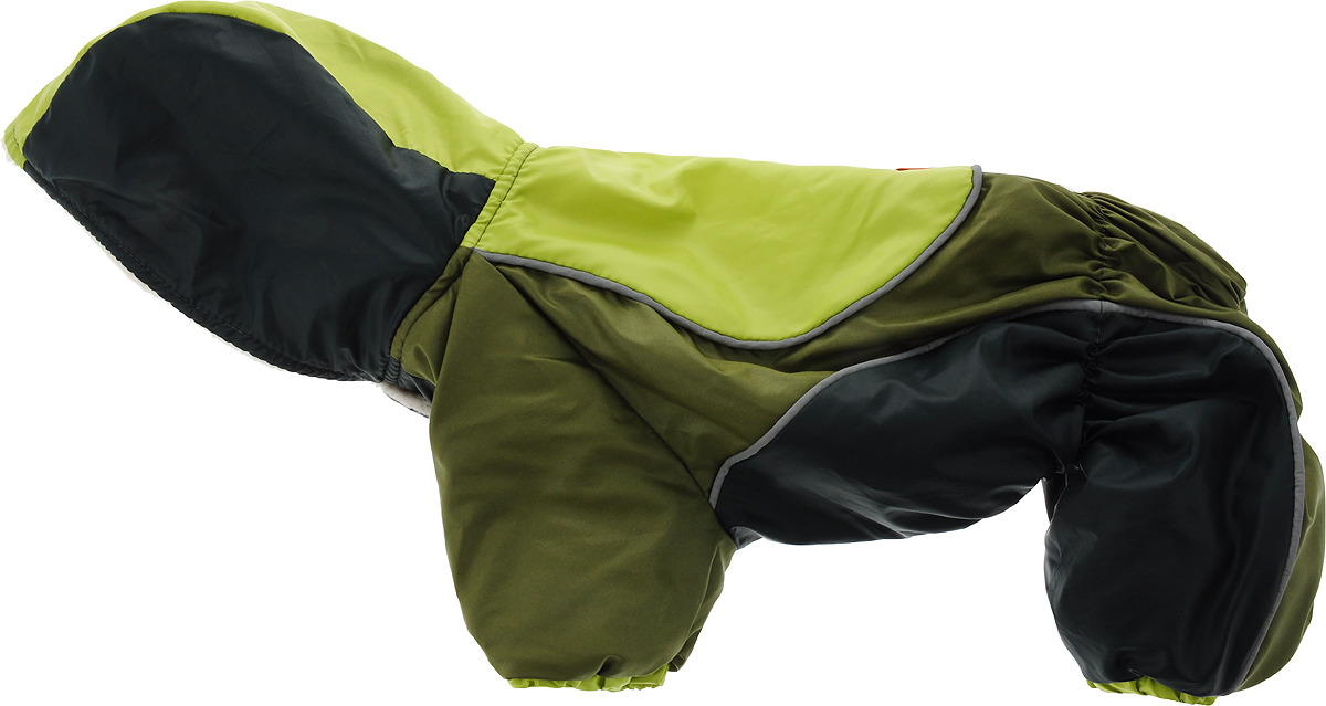 Комбинезон для собак Happy Puppy Фристайл, унисекс, цвет: салатовый, темно-зеленый, хаки. Размер 4 (XL) лонгслив мужской oodji lab цвет темно синий 5l512010m 47637n 7910p размер xl 56