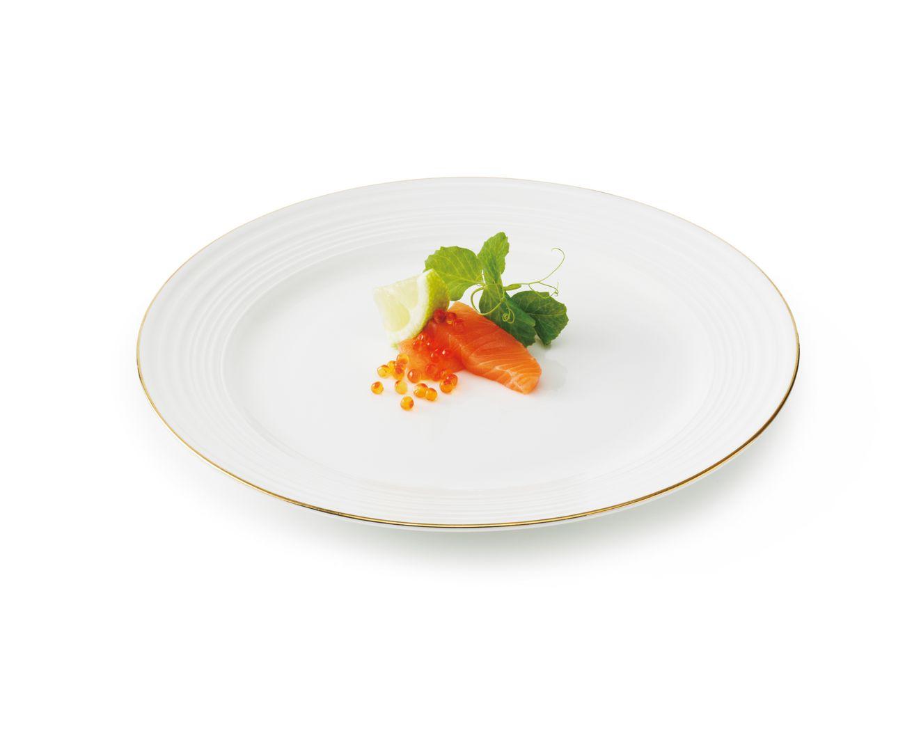 Набор тарелок обеденных Aida Passion, в подарочной упаковке, цвет: белый, диаметр 23 см, 4 предмета. 19486 набор обеденных тарелок lsa dine цвет белый диаметр 27 см 4 шт