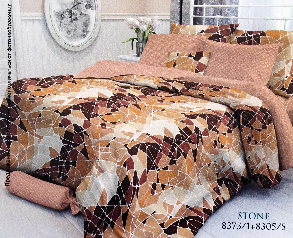 Комплект белья Verossa Stone, семейный, наволочки 50x70 и 70x70 комплект постельного белья verossa семейный indigo grain наволочки 50x70 и 70x70 717551