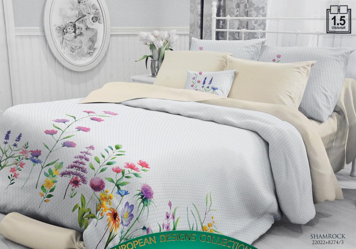 Комплект белья Verossa, 1,5-спальный, наволочки 70x70. 722652