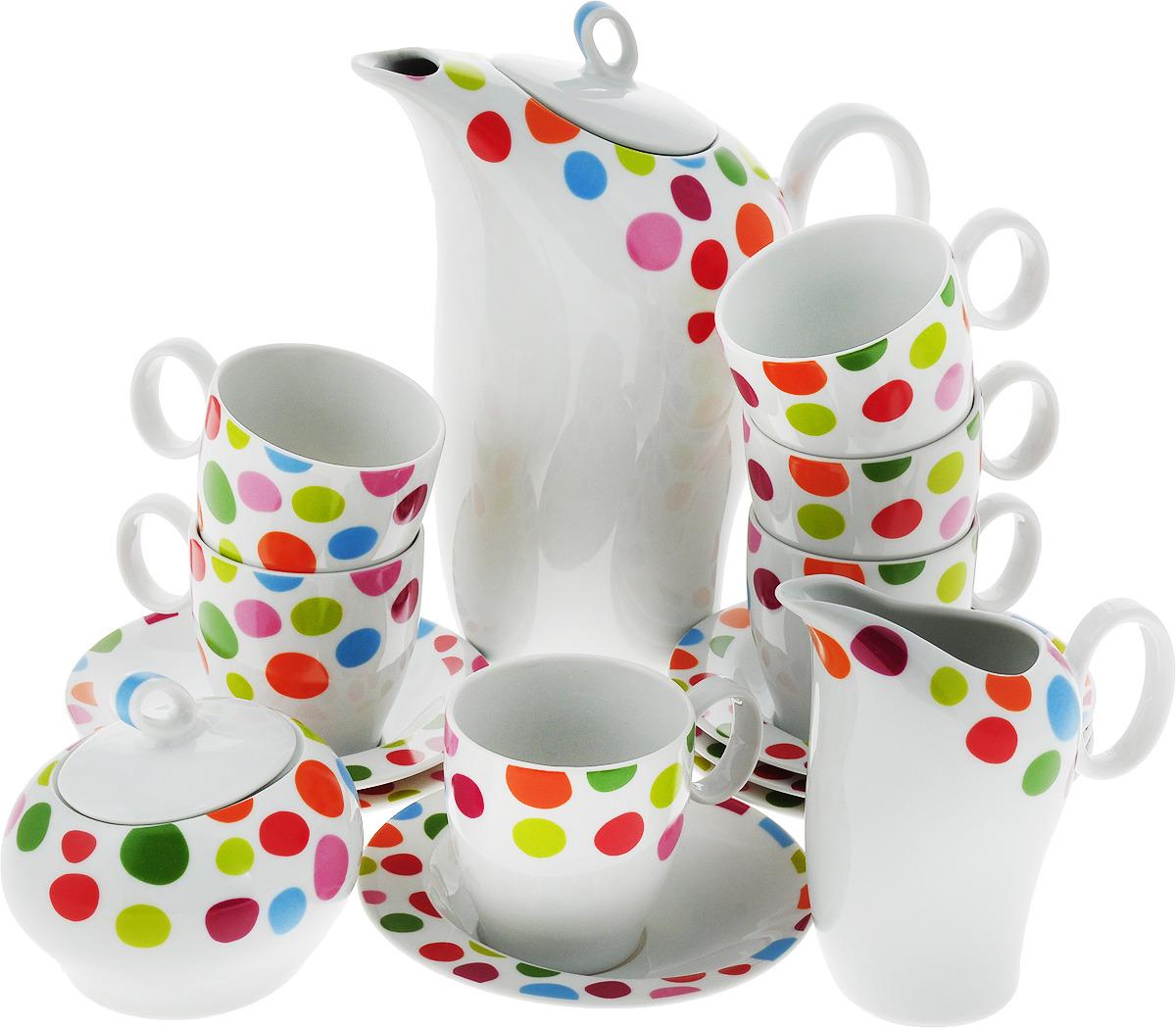 Набор кофейный Thun Future Феллини , 17 предметов фантазер набор для лепки на гончарном круге кофейный сервиз