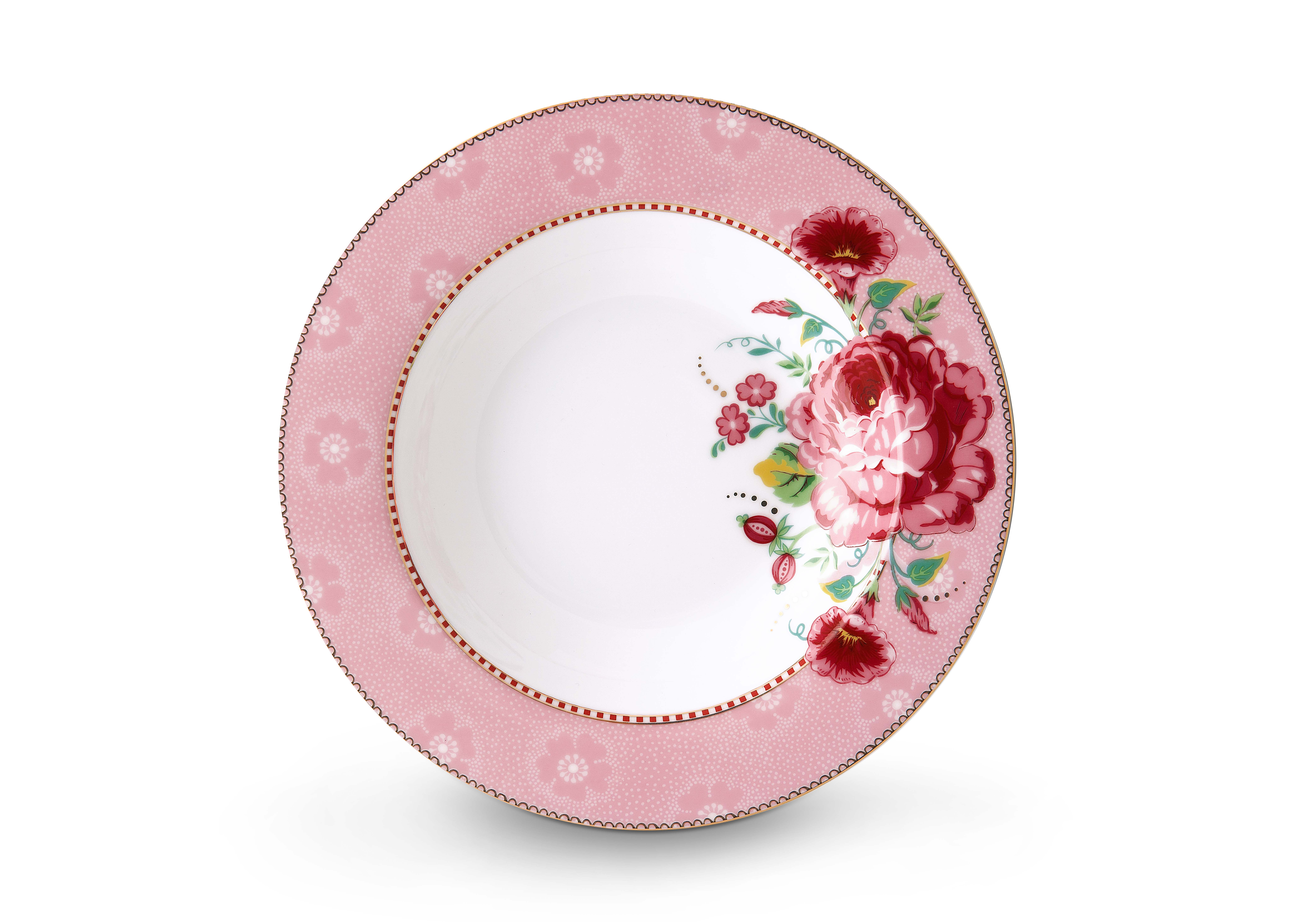 Набор из 2-х тарелок глубоких Pip Studio Rose Pink, д.21,5 см