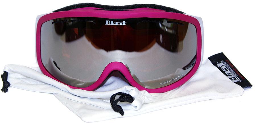 Маска горнолыжная Blast W4613/03B S, цвет: сиреневый, белый, розовый
