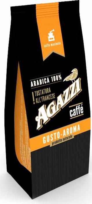 Кофе молотый Agazzi Gusto Aroma, 200 г кофе в зернах agazzi gusto aroma 200 г