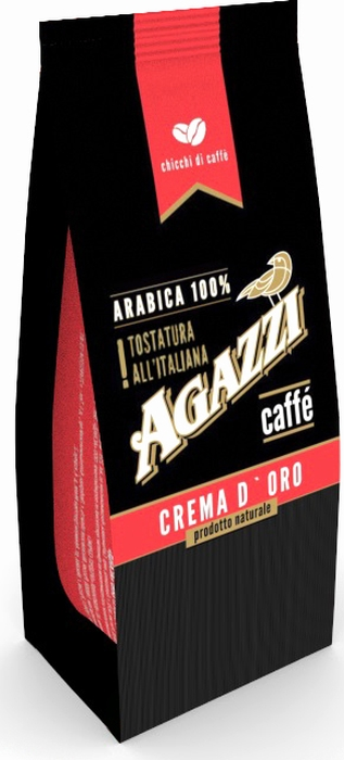 Кофе в зернах Agazzi Crema D`oro, 200 г кофе в зернах agazzi gusto aroma 200 г
