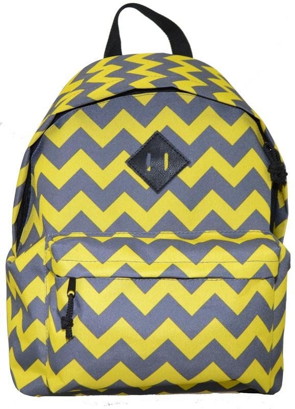 <b>Рюкзак городской Union</b>, <b>цвет</b>: серо-желтый. 541/зигзаг_желтый ...