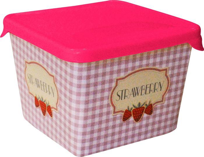 Емкость для продуктов Giaretti, цвет: сладкая малина, 0,75 л комплект емкостей для продуктов giaretti с завинчивающейся крышкой цвет сладкая малина 2 шт