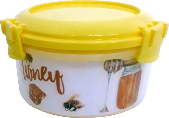 Емкость для продуктов Giaretti Fresco, цвет: лимонный, 0,4 л емкость для продуктов giaretti цвет оливковая роща 0 9 л