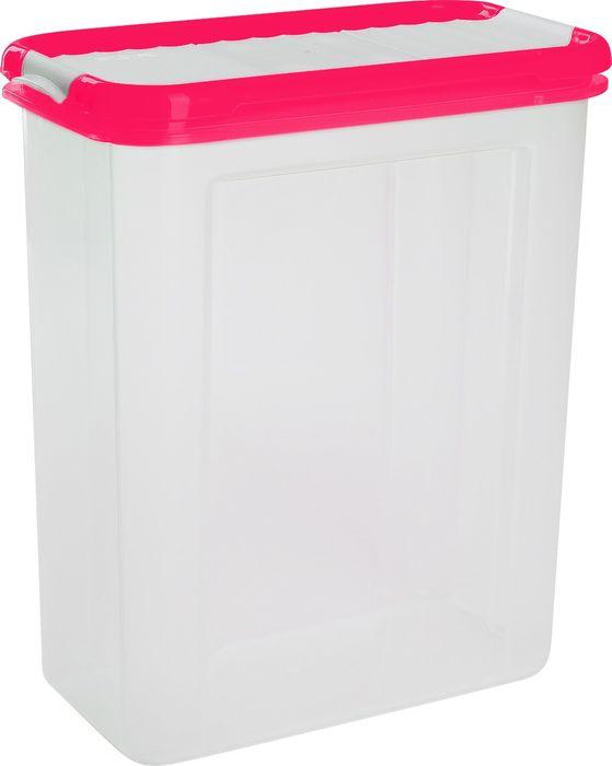 Фото - Банка для сыпучих продуктов Giaretti Krupa , цвет: сладкая малина, с дозатором, 1,5 л банка для сыпучих продуктов giaretti с дозатором 800 мл