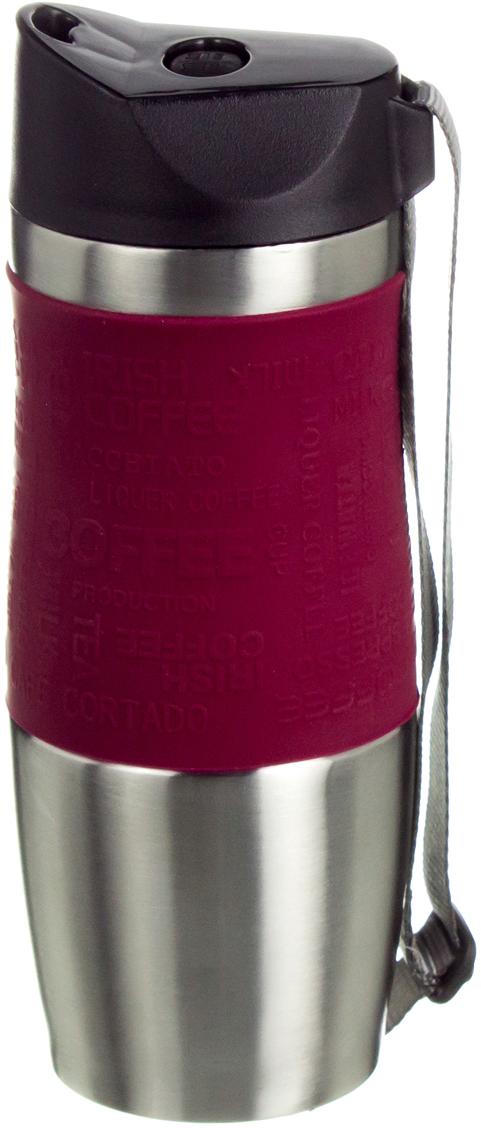 Термокружка Agness, цвет: красный, 400 мл. 709-032709-032