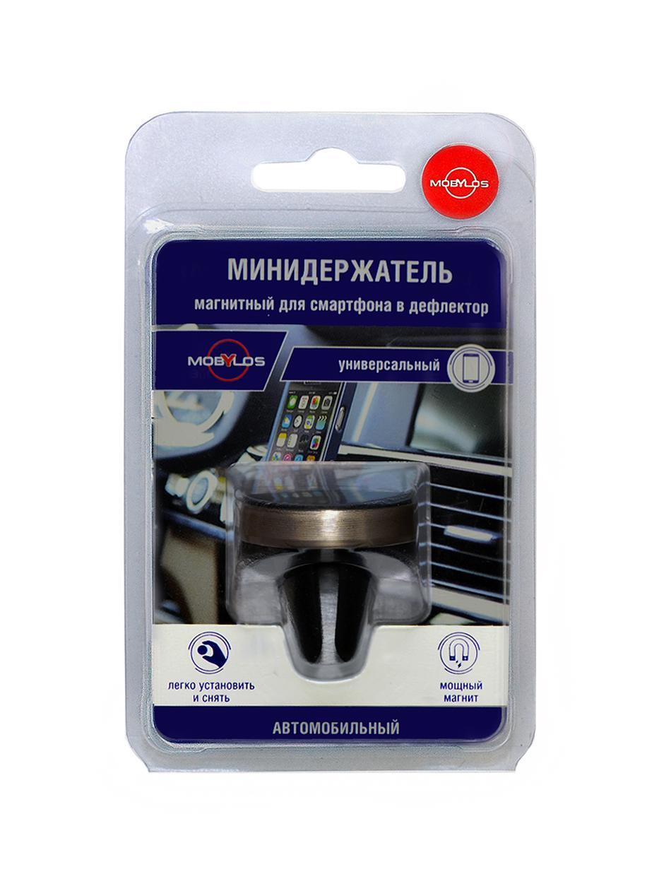 Мини автомобильный держатель Mobylos 30380/з для смартфонов, магнитный, в дефлектор цена