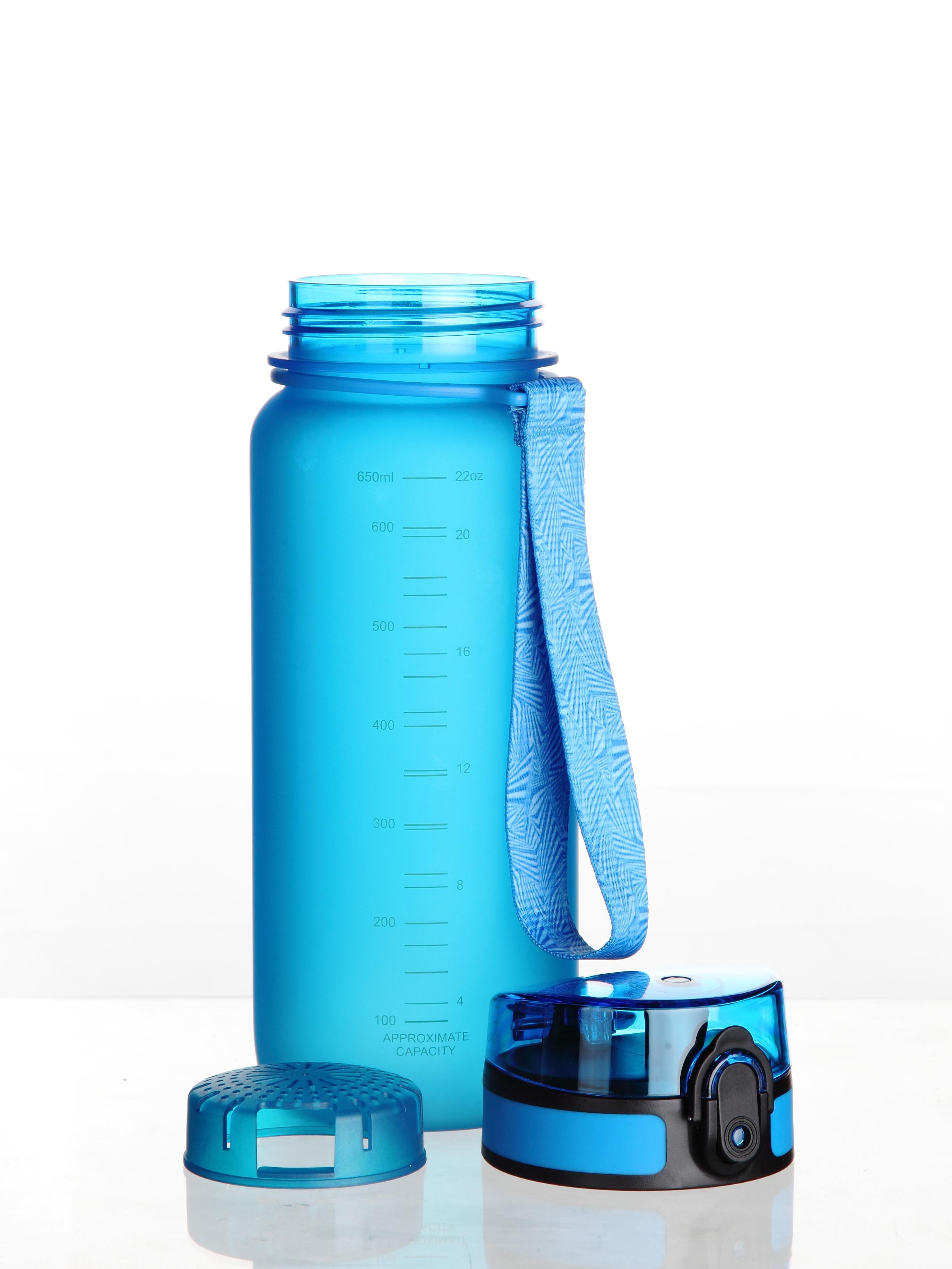 Бутылка для воды UZSPACE Colorful Frosted, цвет: синий, 650 мл (2857)
