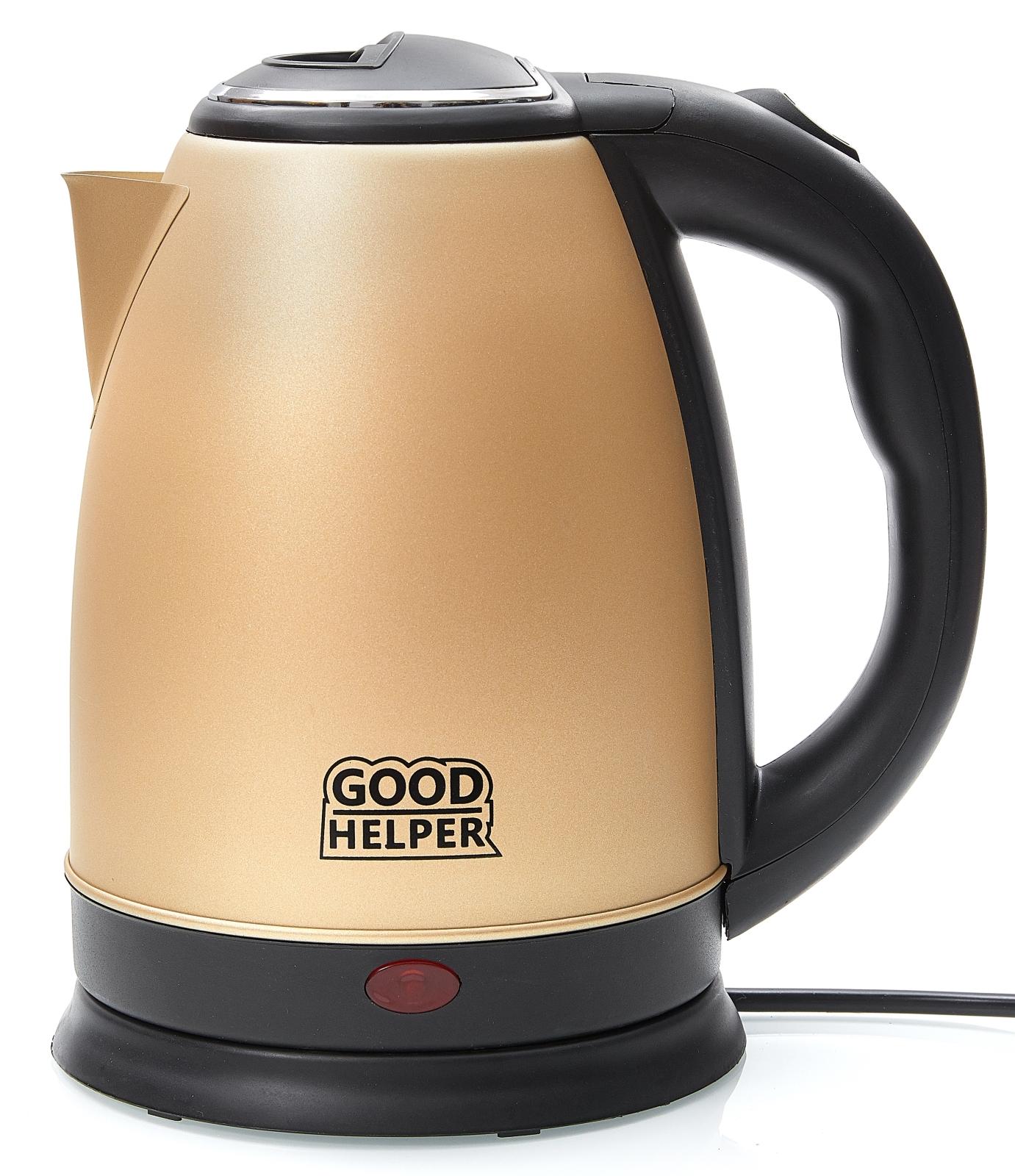Электрический чайник GOODHELPER Чайник электрический KS-181C золото, золотой цена и фото