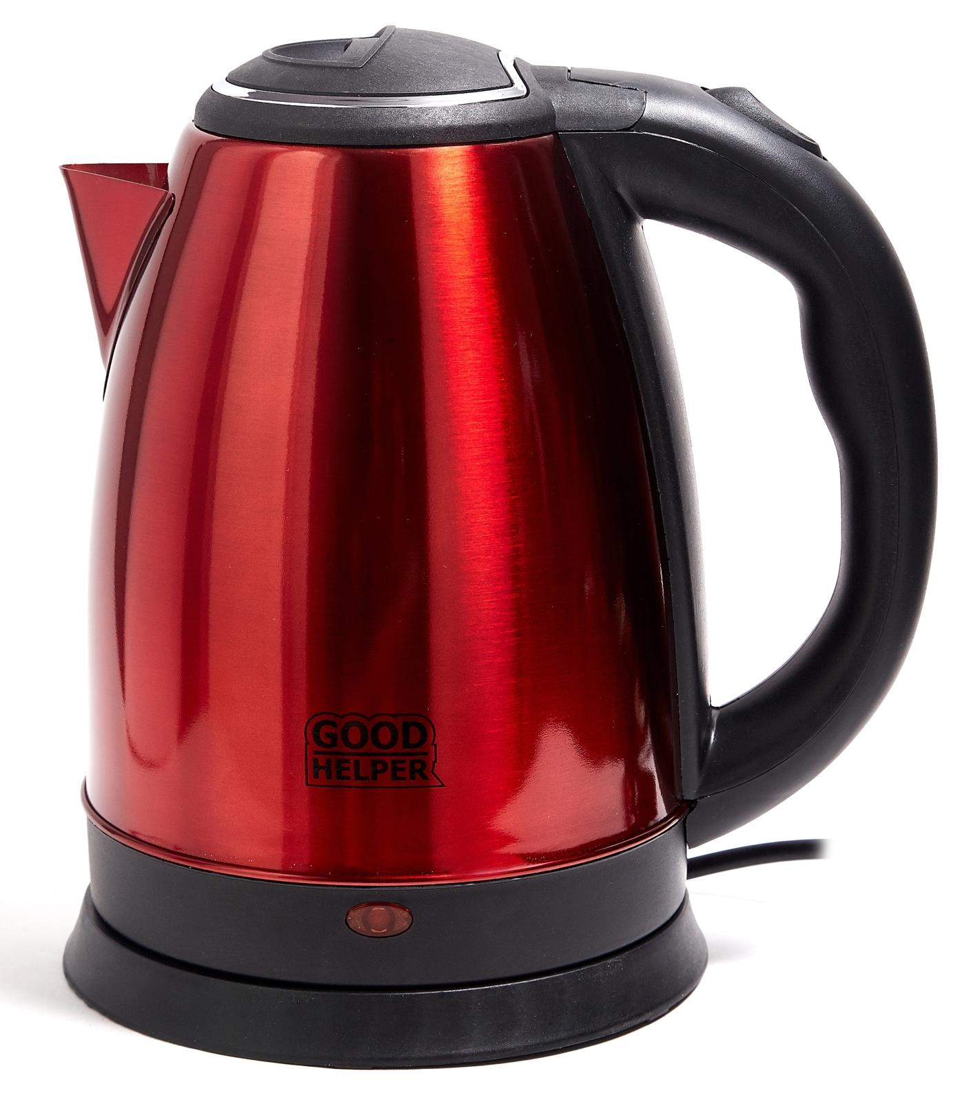 Электрический чайник GOODHELPER Чайник электрический GOODHELPER KS-181C красный, KS-181C красный, красный цена и фото