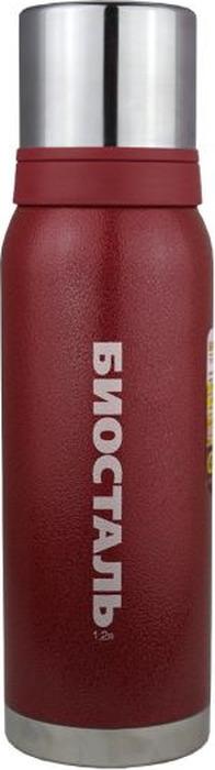 "Термос Biostal ""Охота"", с 2 чашками, цвет: красный, 1,2 л. NBА-1200R"