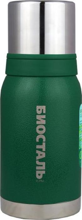 Термос Biostal Охота, с 2 чашками, цвет: зеленый, 0,75 лNBА-750GТермос с узким горлом, покрытый молотковой эмалью относится к серии ОХОТА. Термосы этой серии вобрали в себя самые передовые энергосберегающие технологии и отличаются применением более совершенных термоизоляционных материалов, а также новейшей технологией по откачке вакуума. Термос предназначен для хранения горячих и холодных напитков (чая, кофе и пр.) и укомплектован пробкой без кнопки и двумя крышками-чашками. Пробка без кнопки надежна, проста в использовании и позволяет дольше сохранять тепло благодаря дополнительной теплоизоляции. А чашки удобной ёмкости (150 мл и 200 мл) позволяют использовать термос с наибольшим удобством. Держит тепло на протяжении 19 часов