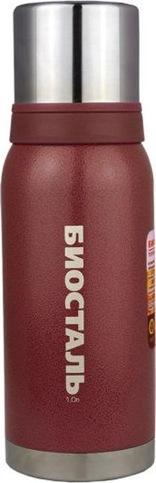 """Термос Biostal """"Охота"""", с 2 чашками, цвет: красный, 1 л"""