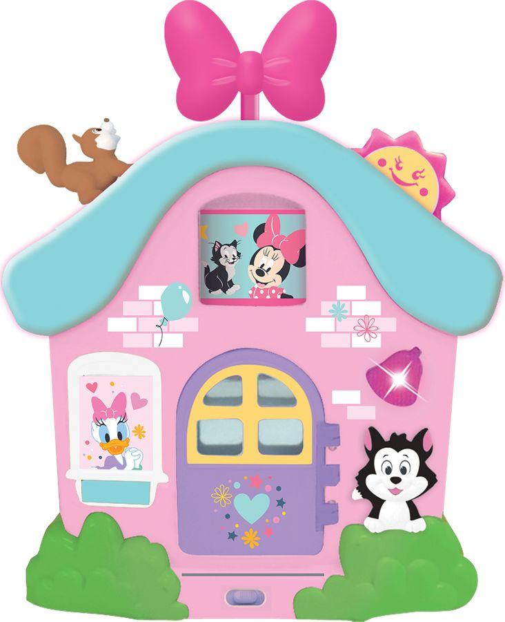 Развивающая игрушка Kiddieland Интерактивный домик Минни Маус и друзья каталка kiddieland минни маус розовый от 1 года пластик
