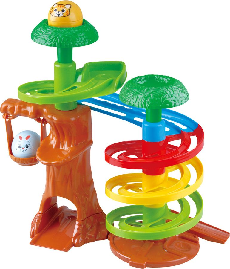 Развивающий центр PlayGo Дерево-горка с шарами развивающий центр playgo на кроватку подсолнух 2458