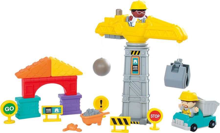 Набор игровой PlayGo Стройка playgo набор с пластилином и аксессуарами в корзине 8750