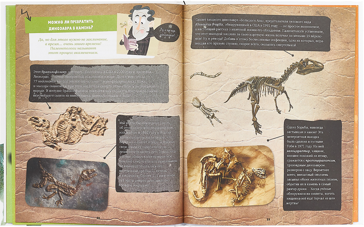 Книга 50 невероятных вопросов про динозавров. Ромен Амьо