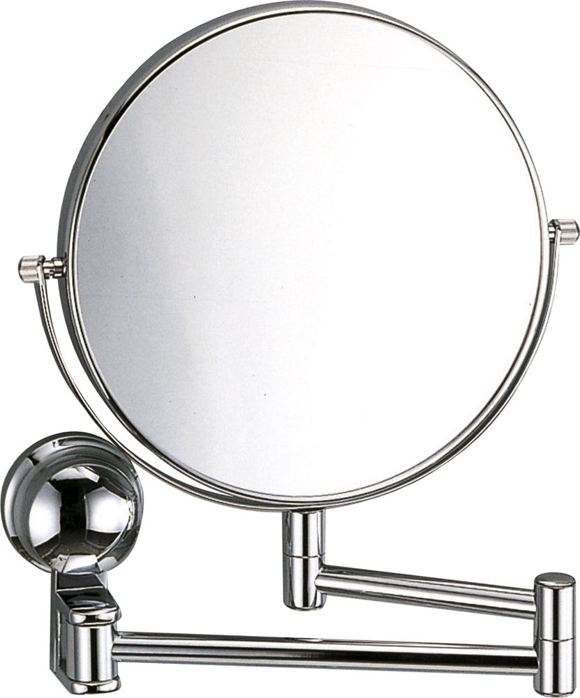 Зеркало для ванной WasserKRAFT, двухстороннее, увеличительное. K-10001000Металл, хромоникелевое покрытие, уплотнительные пластиковые кольца