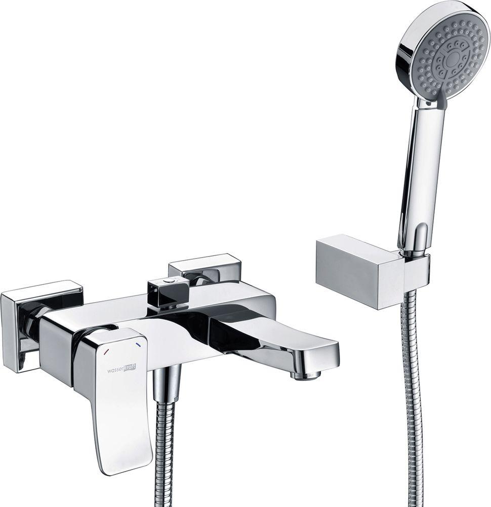 Смеситель для ванны WasserKraft Aller 1060, с коротким изливом. 1061 стопор helios силиконовый 1061 hs shk 1061 sss 15 шт