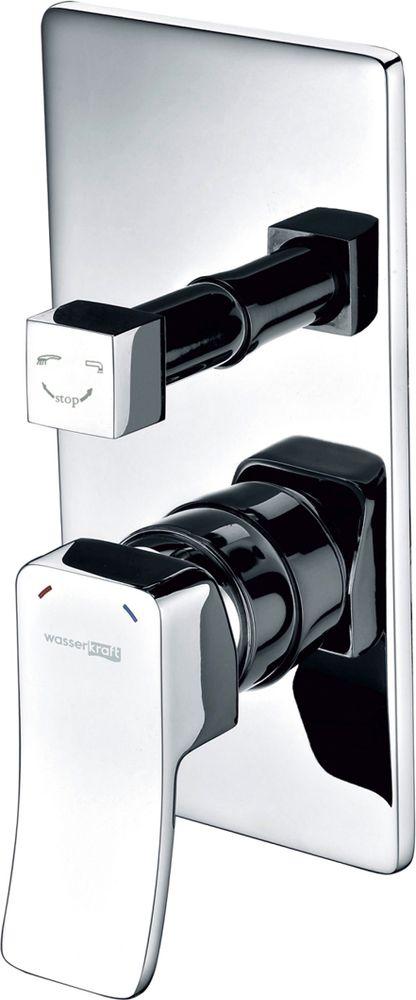Смеситель Универсальный WasserKraft Aller 1060, со встраиваемой системой монтажа. 1064110641Керамический картридж 30мм, Sedal (Испания), Керамический поворотный переключатель