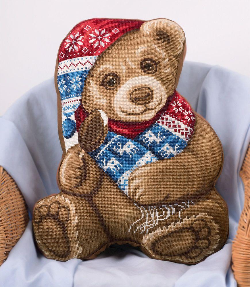 """Набор для вышивания крестом Panna """"Мой Медвежонок"""", 34 х 43 см"""