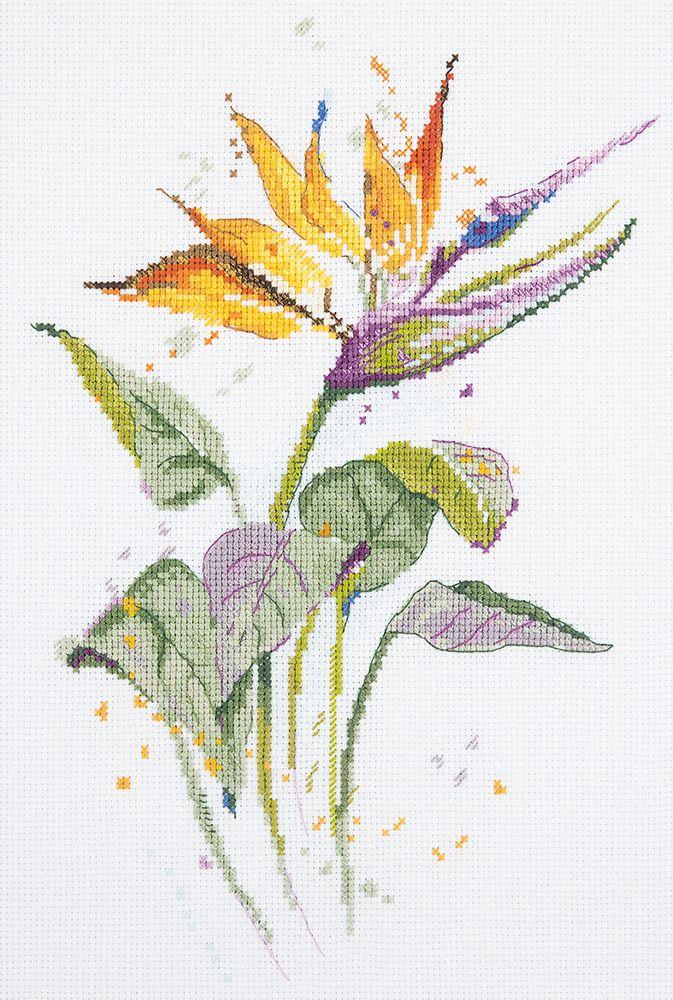 Набор для вышивания крестом Panna Стрелиция, 20 х 30 см набор для вышивания крестом panna орхидея 30 х 18 см