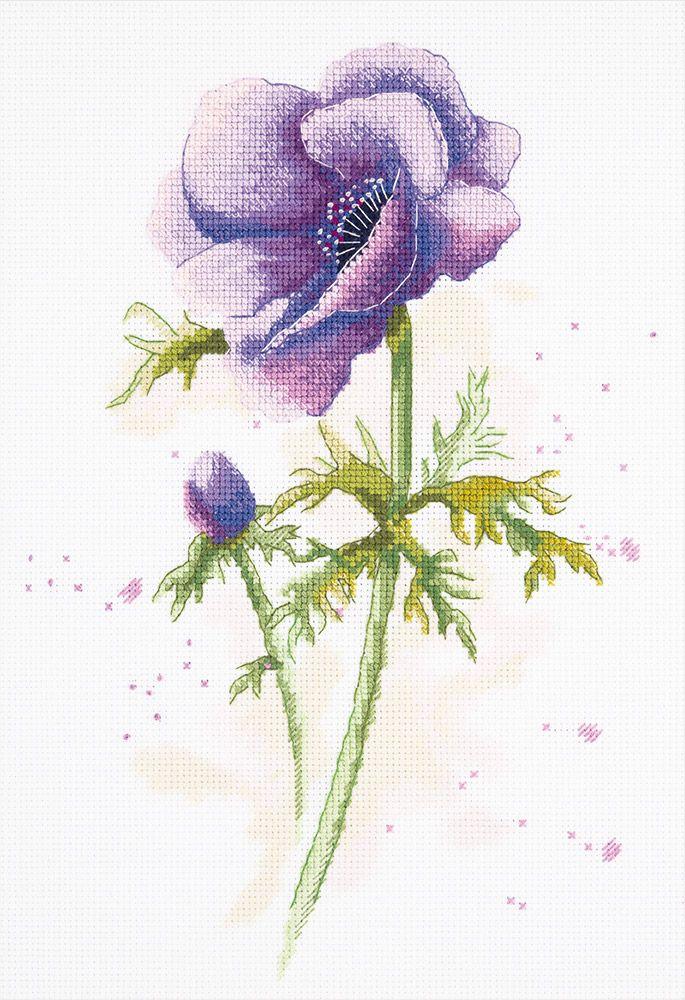 Набор для вышивания крестом Panna Анемон, 20 х 29 см набор для вышивания крестом panna орхидея 30 х 18 см