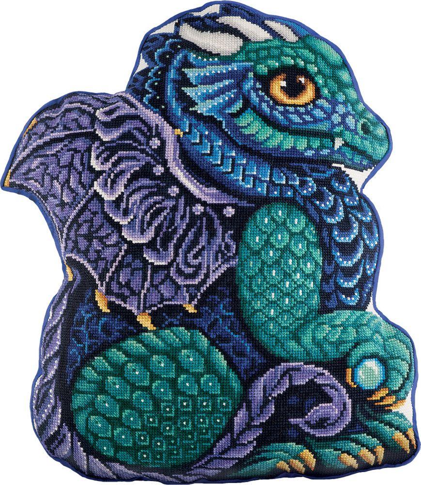 """Набор для вышивания крестом Panna """"Подушка Мой дракон"""", 38,5 х 44 см"""