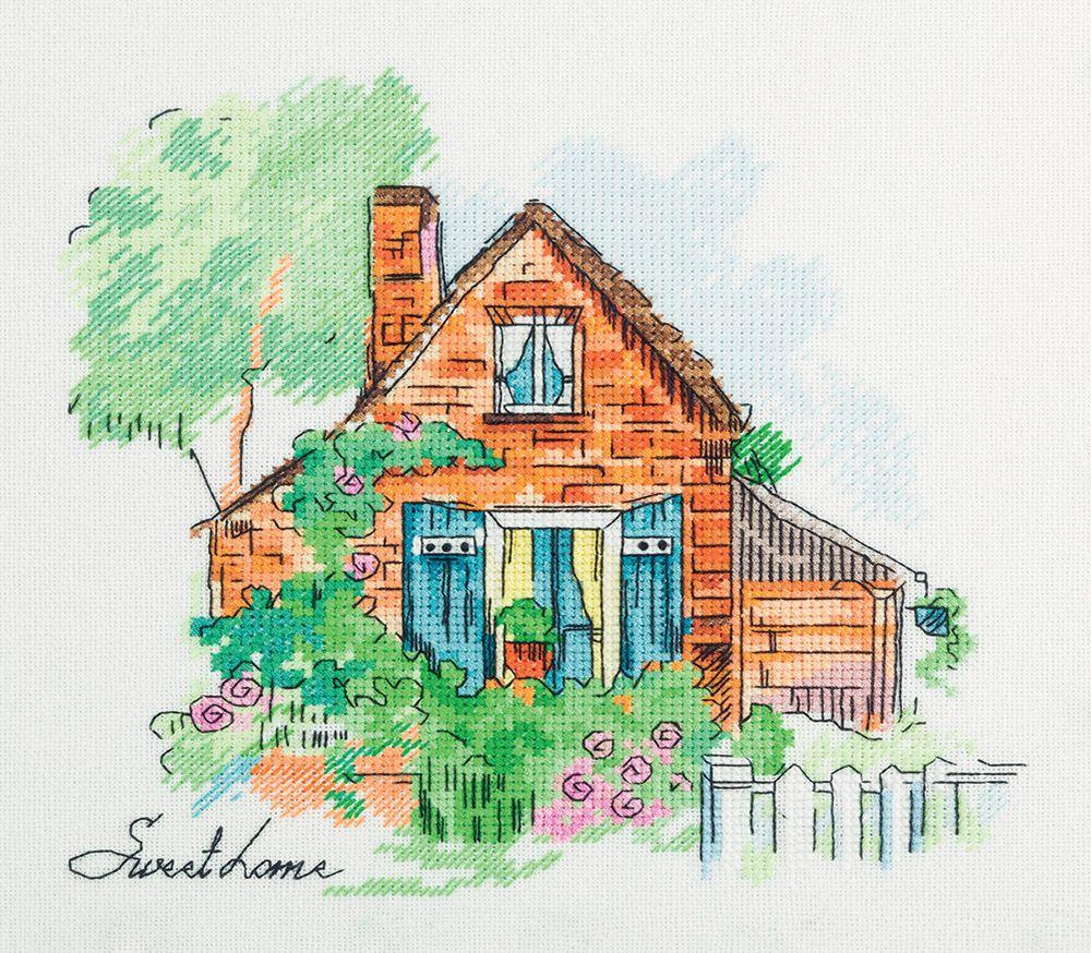 Набор для вышивания крестом Panna Уютный домик, 21,5 х 21 см набор для вышивания крестом panna физалис 30 х 21 см