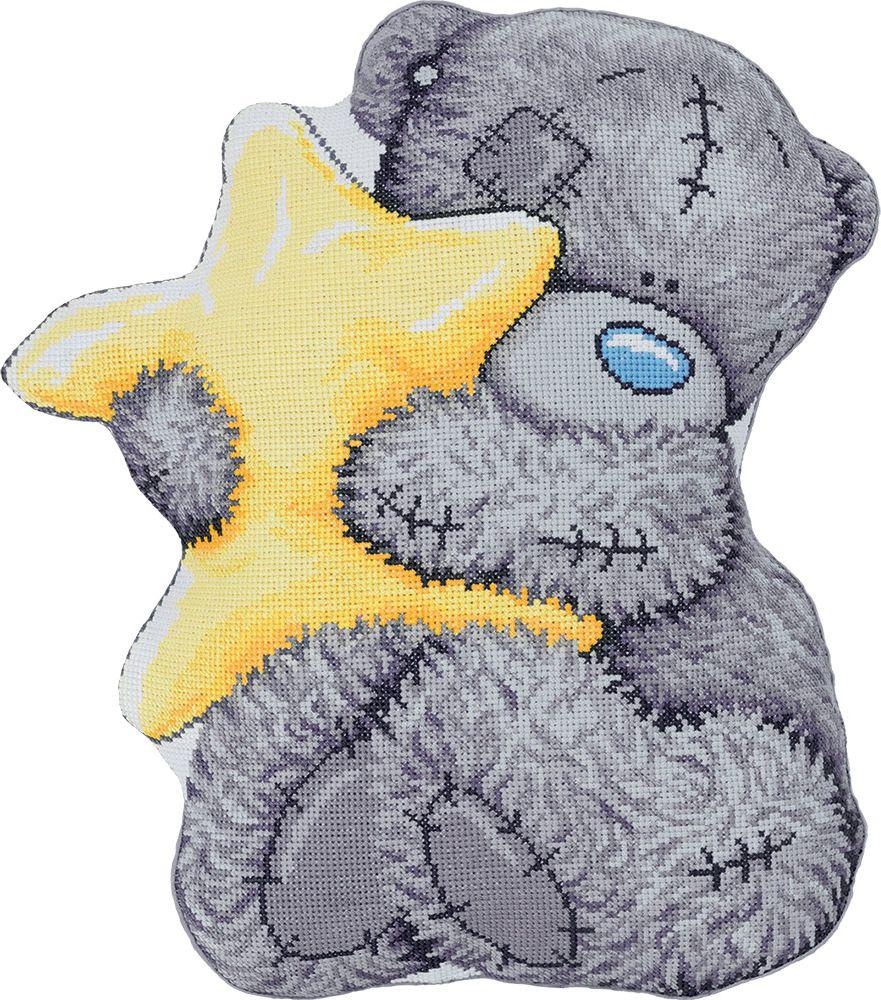 Набор для вышивания крестом Panna Подушка. Tatty Teddy со звездочкой, 36,5 х 41,5 см набор для вышивания крестом panna подушка мандала 40 х 40 см