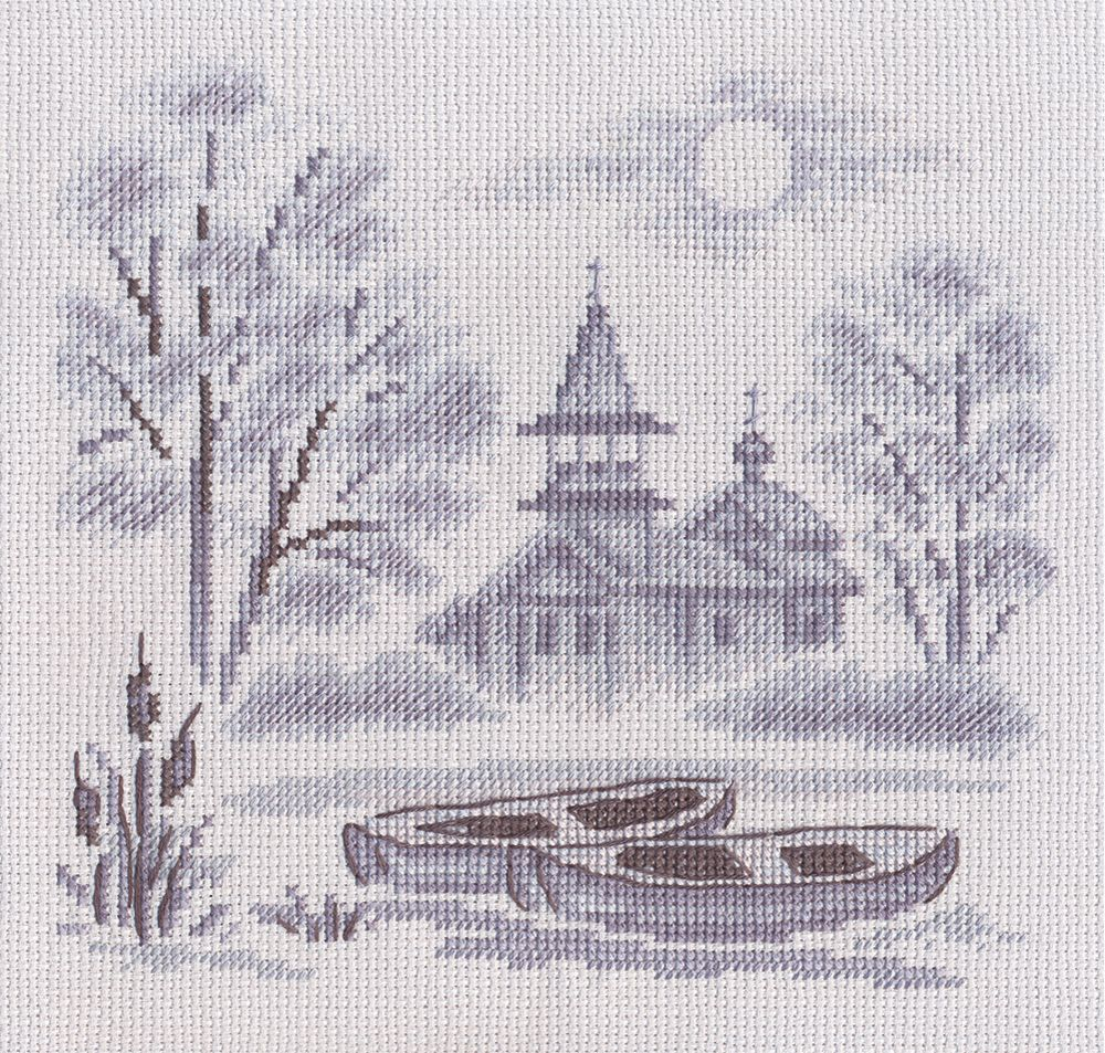 Набор для вышивания крестом Panna Туман над рекой, 21 х 21 см набор для вышивания крестом panna физалис 30 х 21 см