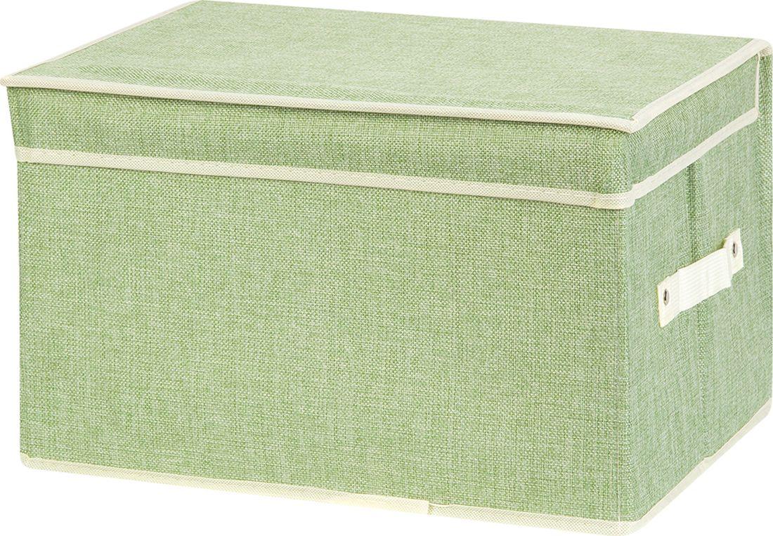 Кофр для хранения вещей EL Casa, складной, цвет: зеленый, 40 х 30 х 25 см. 370902 кофр для хранения вещей el casa сияние лета складной 40 х 30 х 25 см