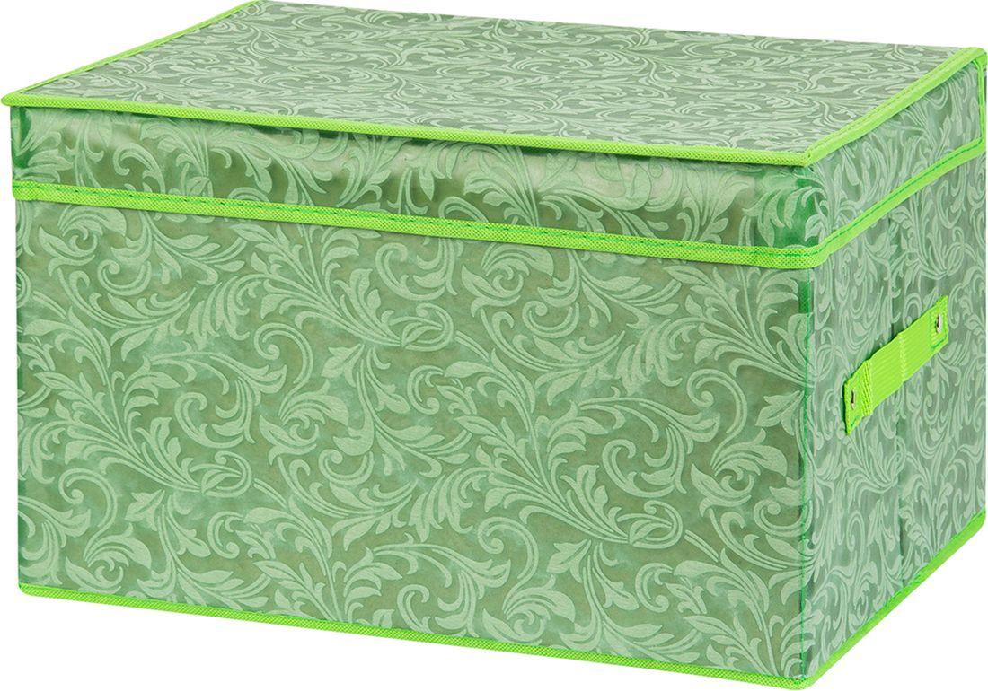 цена Кофр для хранения вещей EL Casa, складной, цвет: зеленый, 40 х 30 х 25 см. 370910 онлайн в 2017 году