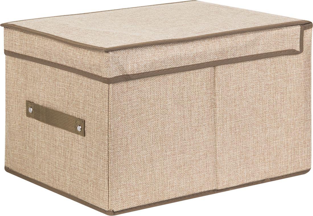 цена Кофр для хранения вещей EL Casa, складной, цвет: золотистый, 30 х 40 х 25 см. 370919 онлайн в 2017 году