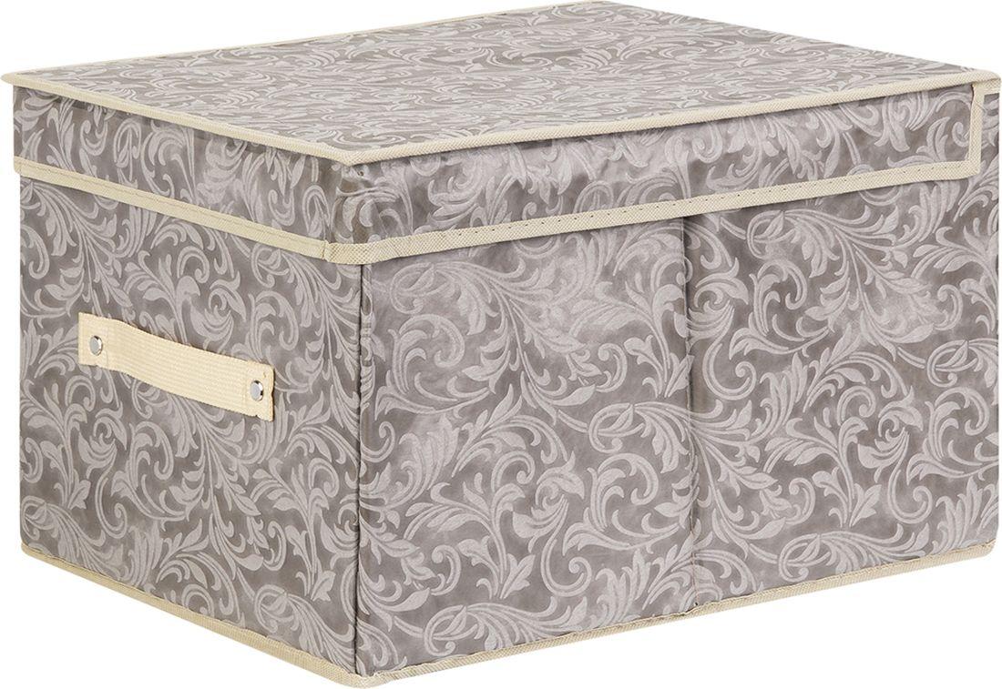 цена Кофр для хранения вещей EL Casa, складной, цвет: серо-коричневый, 30 х 40 х 25 см. 370924 онлайн в 2017 году