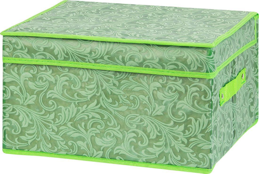 цена Кофр для хранения вещей EL Casa, складной, цвет: зеленый, 35 х 30 х 20 см. 370958 онлайн в 2017 году